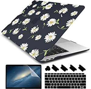 Dongke for New MacBook Air 13 Inch Case 2020 2019 2018 Release A1932, Frosted Rubberized Matte Hard Shell Cover for MacBook Air 13