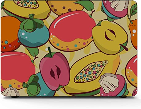 MacBook Air Laptop Case Summmer Cute Fashion Fruit Papaya Plastic Hard Shell Compatible Mac Air 11 Pro 13 15 MacBook Assessories Protection for MacBook 2016-2019 Version