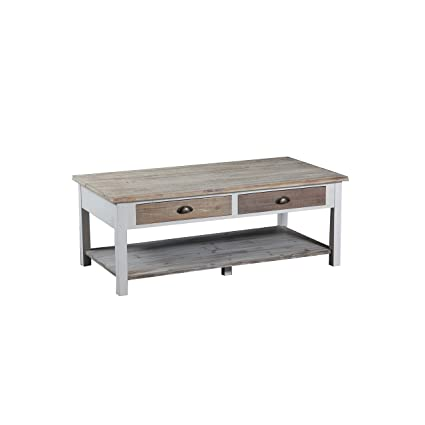 Driftwood Coffee Table.Amazon Com Powell Brighton Driftwood Pine Mdf Coffee Table Kitchen