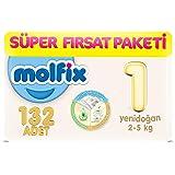 Molfix 3D Bebek Bezi Yenidoğan, Super Fırsat Paketi 132 Adet