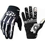 Rigwari Skeleton Cycling Gloves Motorcycles Gloves Off-Road Vehicle MTB, Bicycle Gloves Shock Absorption Non-Slip Touch…