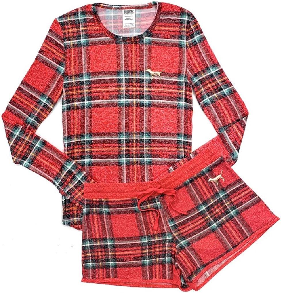 Victorias Secret - Juego de pijama, color rosa - Rojo - S ...