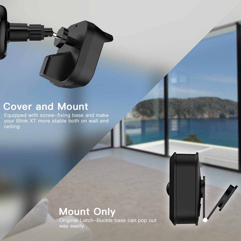 MASCARRY Blink XT Soporte de pared para cámara, resistente a la intemperie 360 grados de protección ajustable para interior / exterior soporte y cubierta ...
