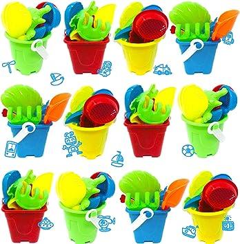 TOINSA Pack 12 Juguetes de Playa, Cumpleaños Infantil, Juguetes de ...