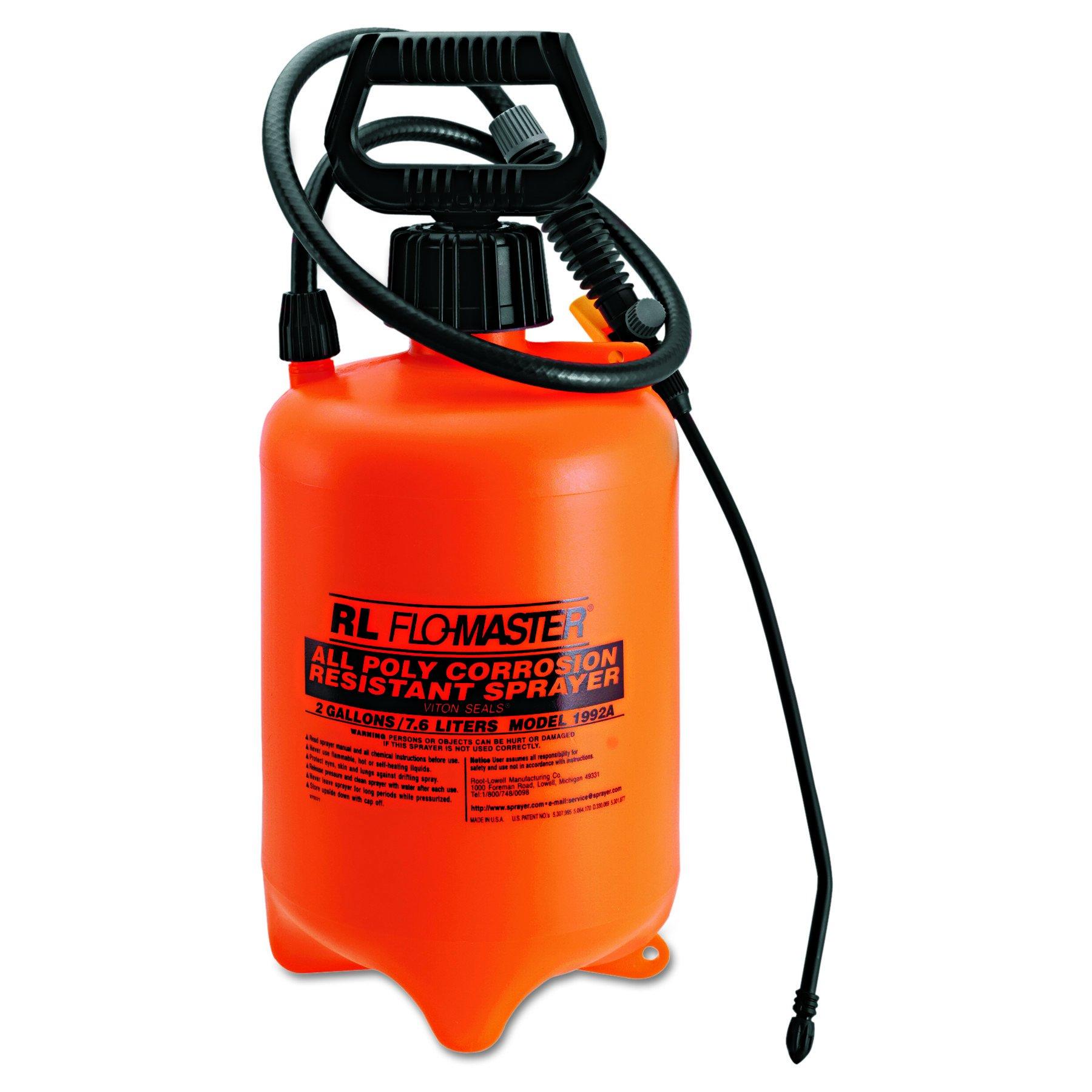 RL Flo-Master 1992A Orange Color, 2 gallon Polyethylene Translucent Acid-Resistant Standard Sprayer