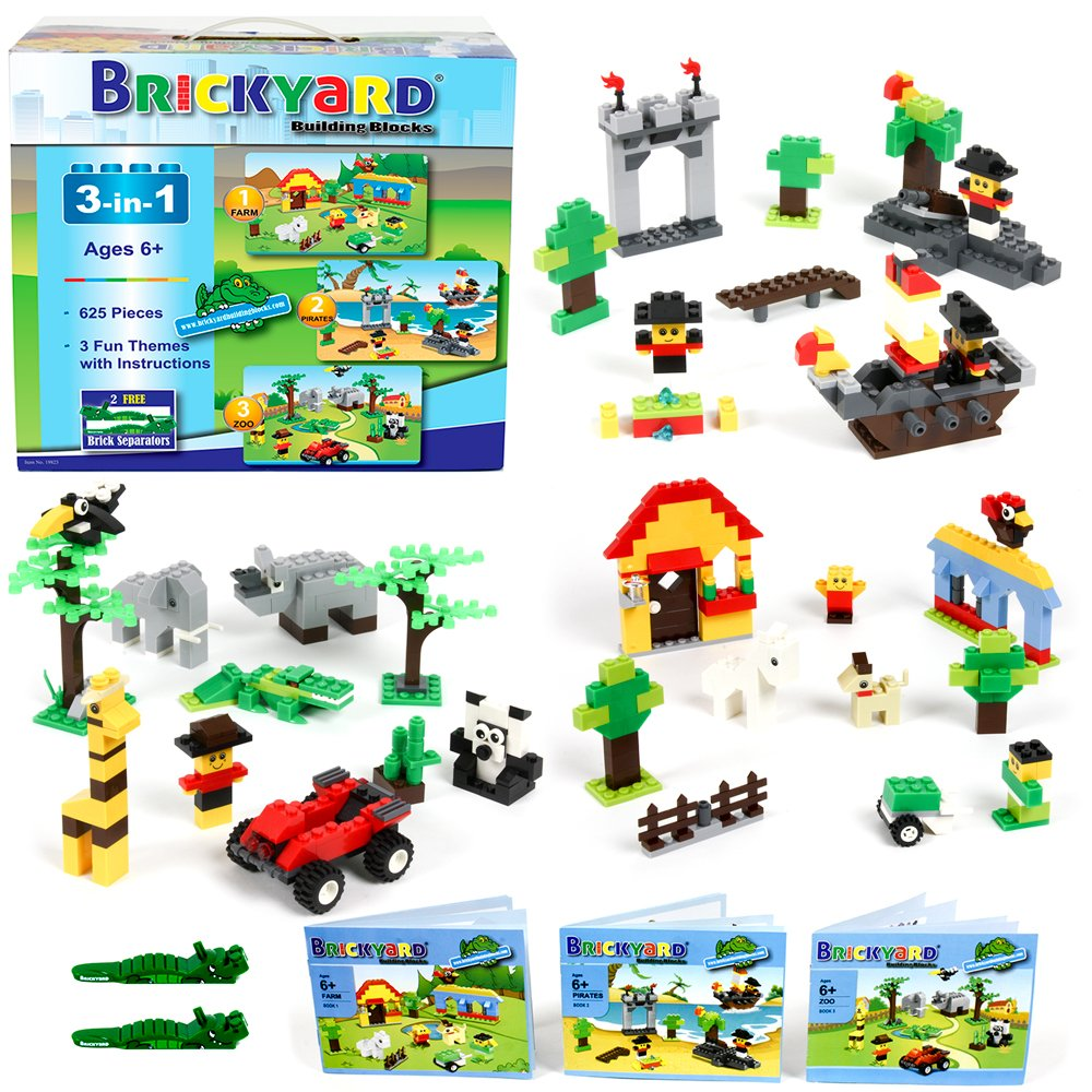 Amazon 3 In 1 Building Bricks Set 625 Pieces Compatible Brick