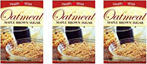 3 Box Value Pack (21 Servings) Healthwise - High Protein Diet Oatmeal - Maple Brown Sugar - 15g Protein - Low Calorie - Low Carb - Low Fat - Gluten Free
