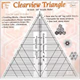 Clearview Triangle 10 Inch 60 Degree Acrylic Quilt Ruler