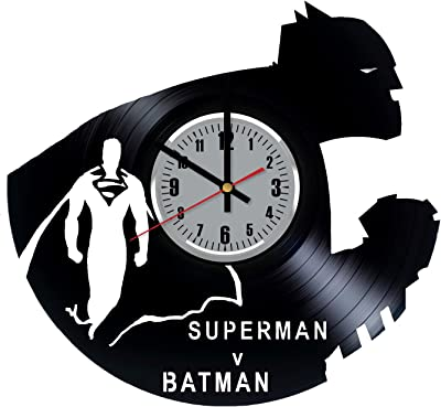 Batman vs Superman Dawn of Justice Vinyl Wall Clock - Gotham City The Dark Knight Bruce