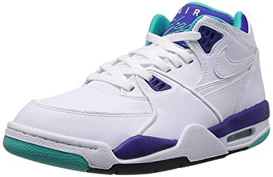 meet 664a6 78494 Image Unavailable. Image not available for. Colour  NIKE Mens Air Flight 89   White Dark Concord Hyper Jade 306252-113