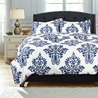 Bedsure Printed Duvet Cover Set with Zipper Closure Bedding Set Ultra Soft Hypoallergenic Microfiber-1