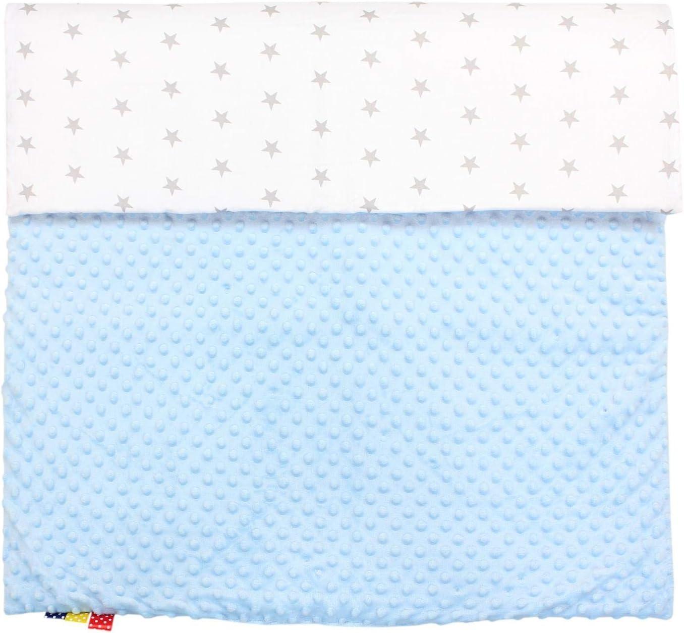 75 x 100 cm Farbe TupTam Babydecke Kuscheldecke 75x100 Pl/üsch Minky Gemustert Gr/ö/ße B/ärchen Blau