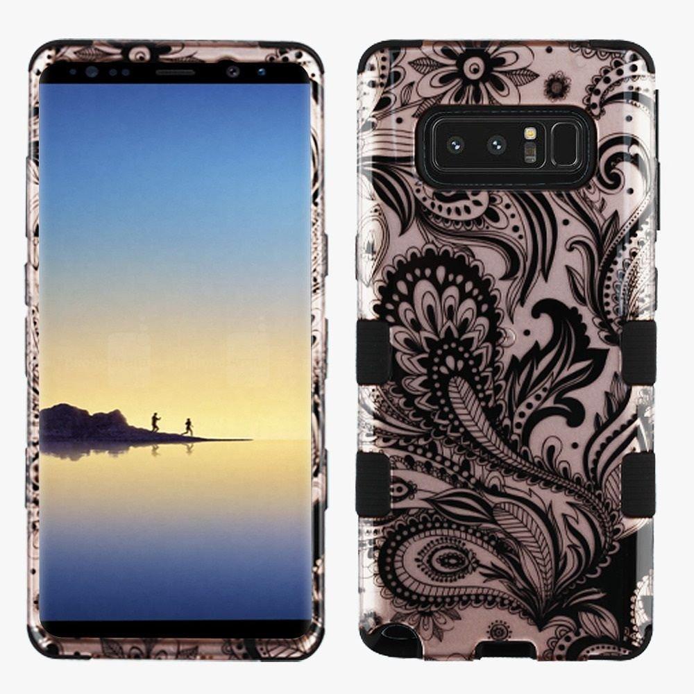 For Samsung Galaxy Note 8 TuffハイブリッドImpact Armor電話プロテクターケースカバー マルチカラー 2378491B0757K4BSLPhoenix Flower/Black-