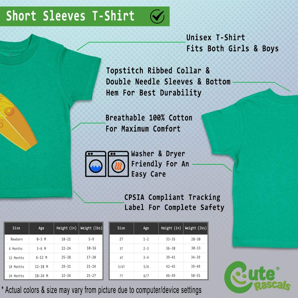 Custom Baby /& Toddler T-Shirt Surf Board with Sun Cotton Boy Girl Clothes