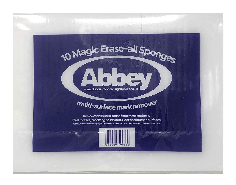 ABBEY Lot de 10 /éponges magiques pour enlever les marques et taches sans produits chimiques