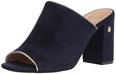 a43acbb17f09 Tommy Hilfiger Women s SAYNA Mule Navy 7.5 Medium US