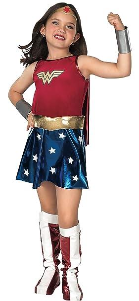 3c4484fc9dbfa Rubies Déguisement de Wonder Woman pour Enfant Costume pour 3-4 Ans ...