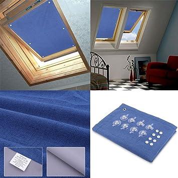 Hdm 60x93 Cm Bleu Foncé Store Pour Fenêtre De Toit Velux Rideau