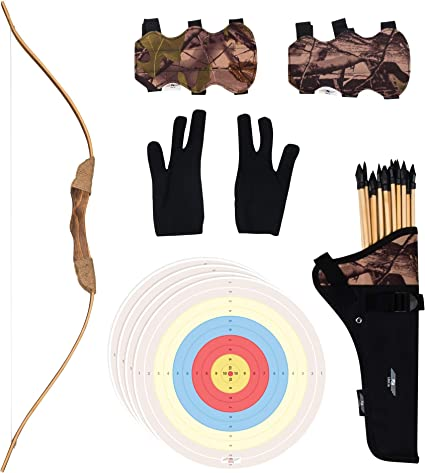 Kids Starter 44 Archery Set With 7 Arrows Recurve Bow Plus Shooting Targets /…
