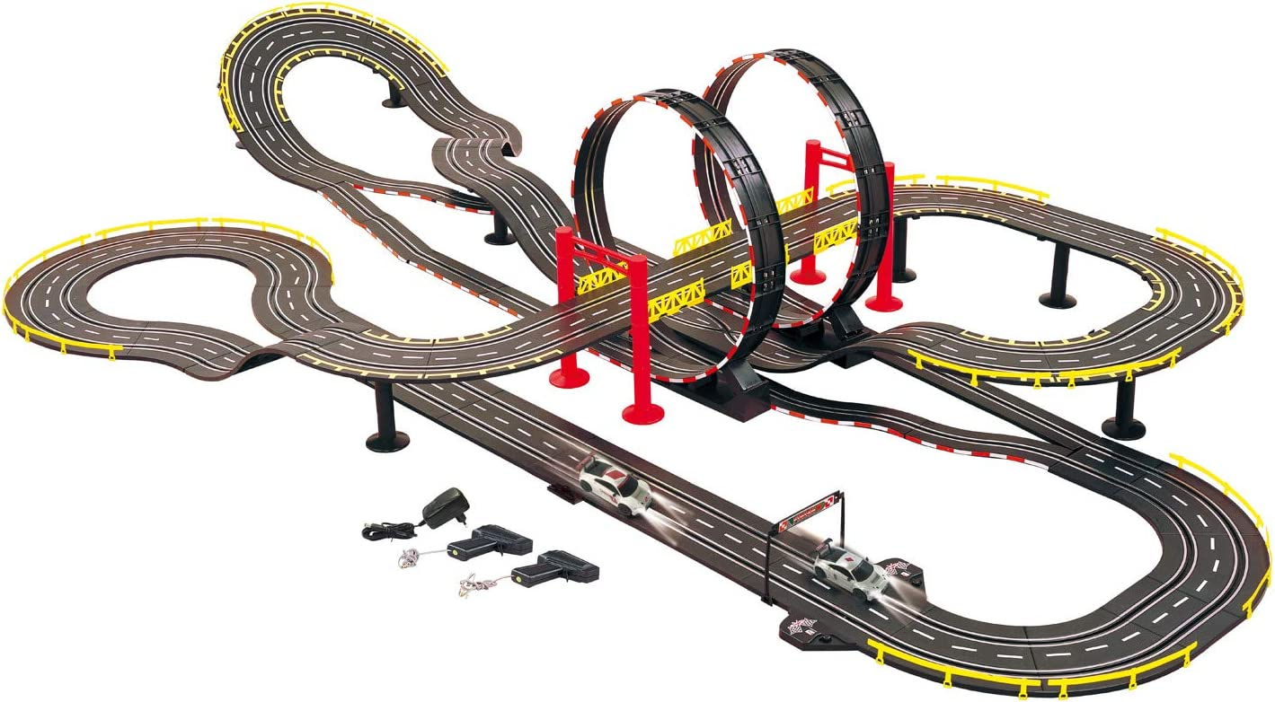 Electric Powered Golden Bright Loop Chaser Road Racing Set
