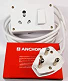 Tia 16 A Sockets Power Extension Cloth Cord, Anchor Socket and Plug, 5 m