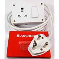 Tia 16 A Power Extension with 4 m Heavy Cloth Cord, Anchor Socket and Plug