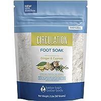 Circulation Foot Soak 32 Ounces Epsom Salt with Natural Ginger, Cypress, Eucalyptus...