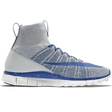 sale retailer c0184 2a5de Nike Free Flyknit Mercurial, Chaussures de Foot Homme, (Gris Loup Bleu Roi