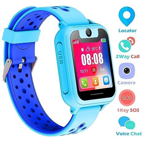 Reloj Niños Smartwatch LBS/GPS Pantalla Táctil Kids Safe Anti-pérdida SOS para Android