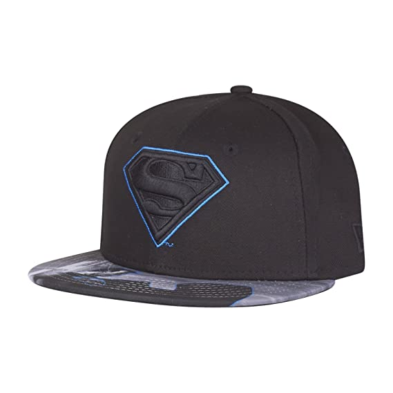 New Era Snapback KIDS Cap - SUPERMAN VISOR noir  Amazon.fr ... 3b0e013b02b