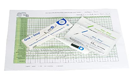 Termómetro digital basal para control del ciclo, 15 pruebas de ovulacion y 5 pruebas de