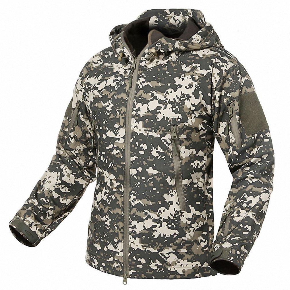 Echo Paths Men's Soft Shell Jacket Waterproof Hooded Tactical Outdoor Coat