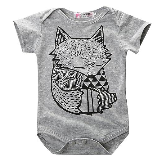 223feaa04 Amazon.com  Hotone Baby Boys Girls Rompers Kids Little Fox Figure ...