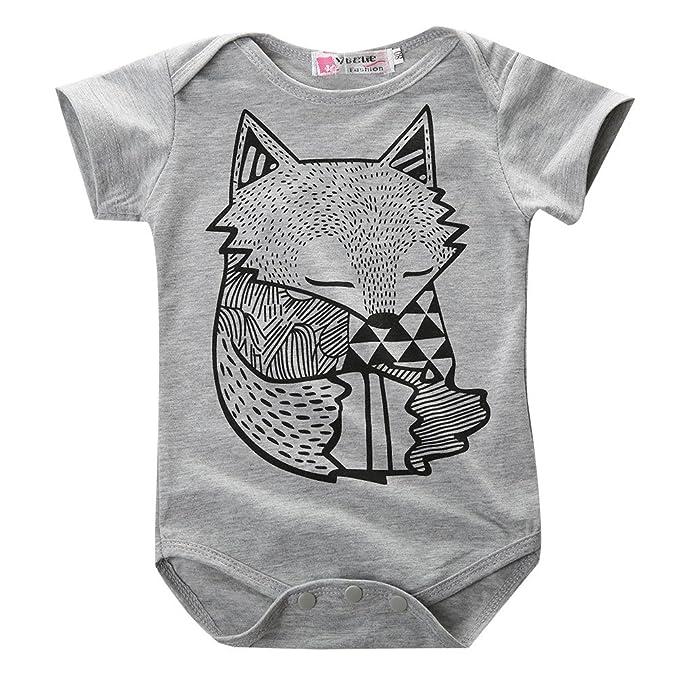 Amazon.com: Hotone bebé niños niñas Pelele niños Little Fox ...