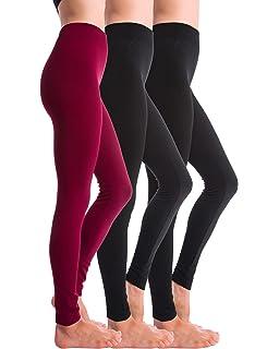 848a5f68fe3aa Premium Women s Fleece Lined Leggings - High Waist - Regular and ...