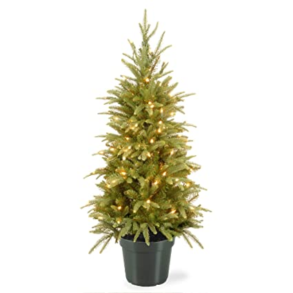 4' Pre-lit Potted Weeping Spruce Artificial Christmas Tree – Clear Lights - Amazon.com: 4' Pre-lit Potted Weeping Spruce Artificial Christmas