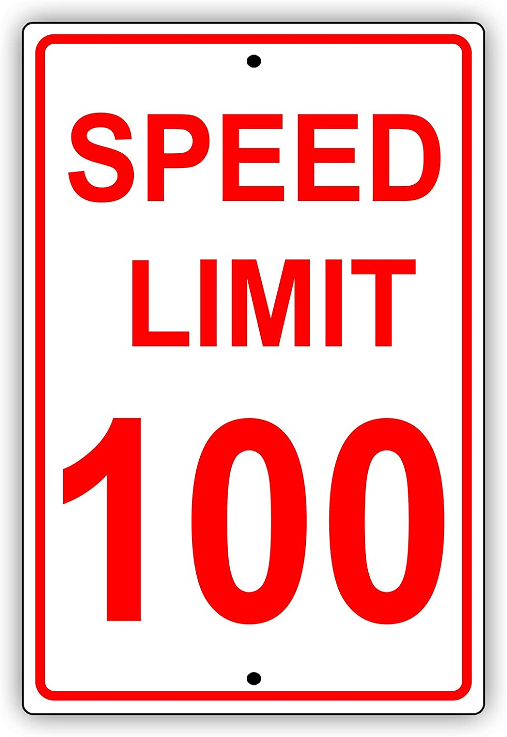 driveway miles per hour SPEED LIMIT  sign road and street signs 100 MPH