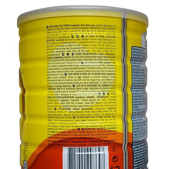 Nestlé Nido instantánea completa Crema de leche en polvo - 1 x 900gm: Amazon.es: Alimentación y bebidas