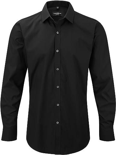 Russell - Camisa Transpirable de Manga Larga elástica Hombre Caballero - Trabajo/Fiesta/Verano: Amazon.es: Ropa y accesorios