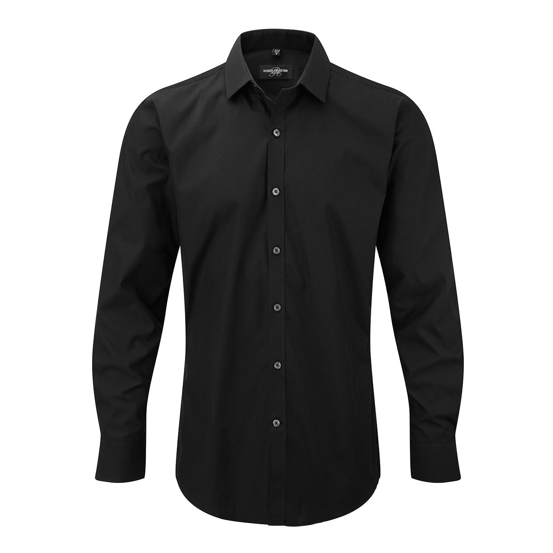 Uomo Russell Camicia Elasticizzata Manica Lunga
