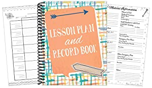 Eureka Confetti Splash Back to School Classroom Supplies Record and Lesson Plan Book for Teachers, 8.5'' x 11'', 40 Weeks