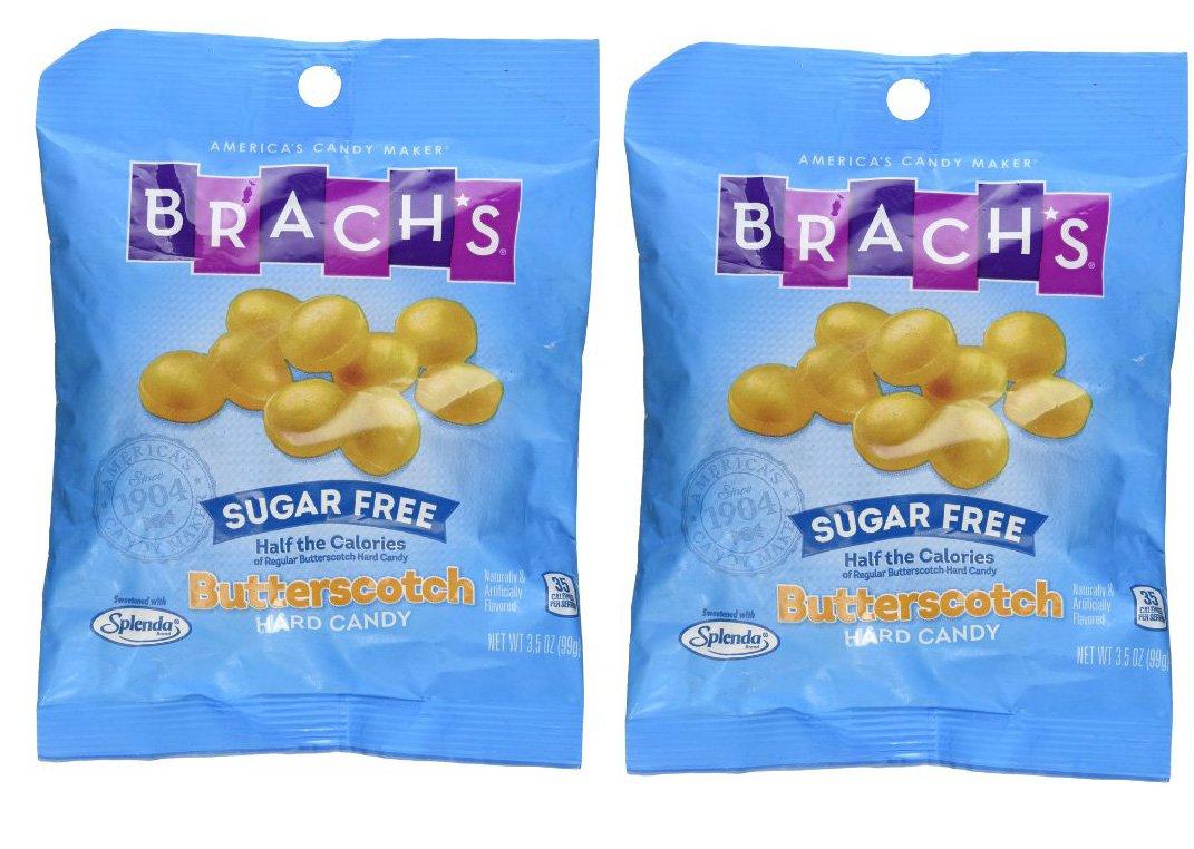 SweetGourmet Brach's Sugar Free Butterscotch Hard Candies 3.5 oz (Pack of 2) by SweetGourmet