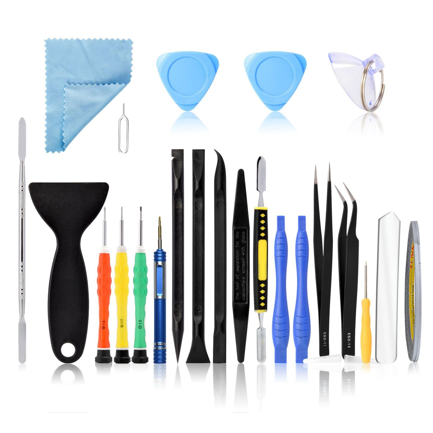 Neuftech 23 Screwdriver Kit Opening Disassembly Repair Tools for iPhone 4 4S 5s 6 Plus 7 iPod iTouch, Samsung S4 S5 S6, Nokia, Huawei etc. Smartphone Cell Phone & Tablet iPad EU-21Set Repair kits