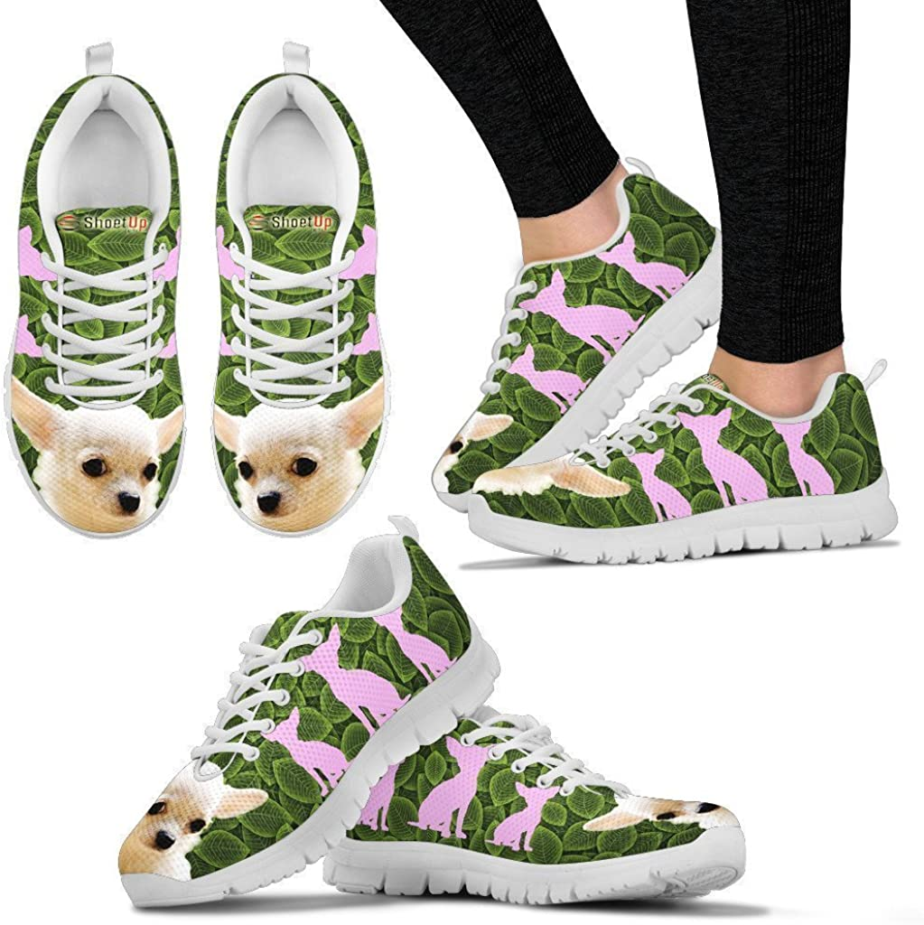 Pawlion Chihuahua Dog Black Dots Print Running Shoes for Kids-Casual Comfortable Sneakers Running Shoes