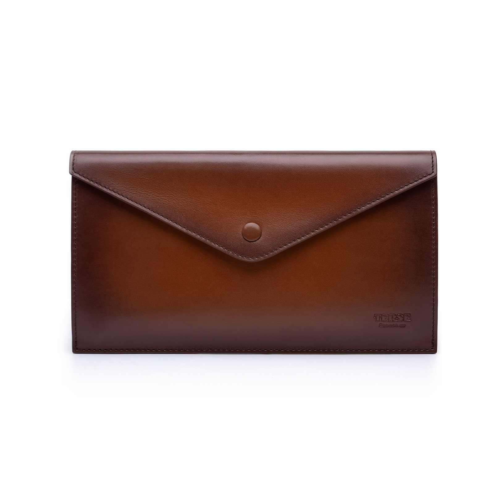 TERSE Clutch Bag for Men Italy Cowhide 100% handmade Messenger bag by TERSE (Image #9)