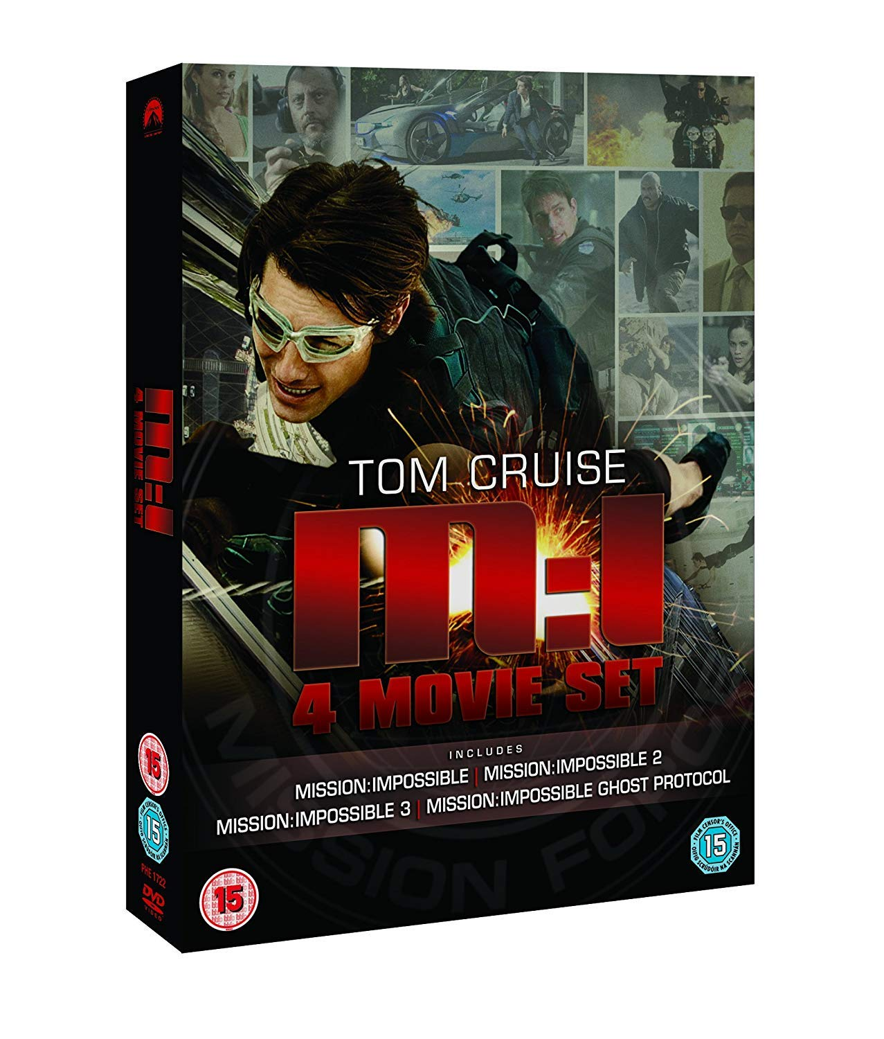 Mission Impossible: Quadrilogy 1-4 Box Set DVD by Tom Cruise ...