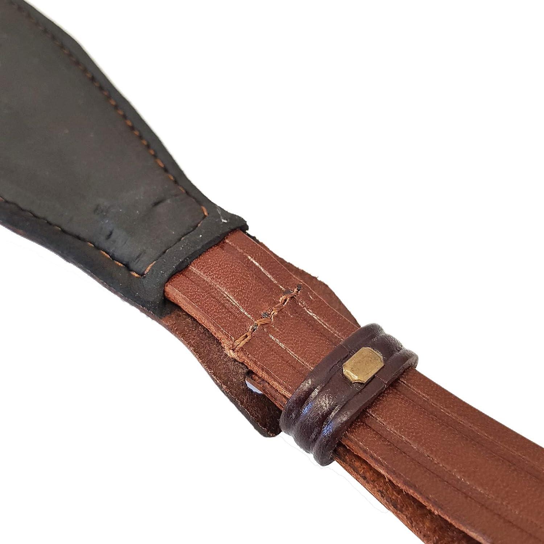 Gewehrriemen Gewehrgurt Waffengurt Rindsleder dunkel braun Gürtel Gurt Gewehr