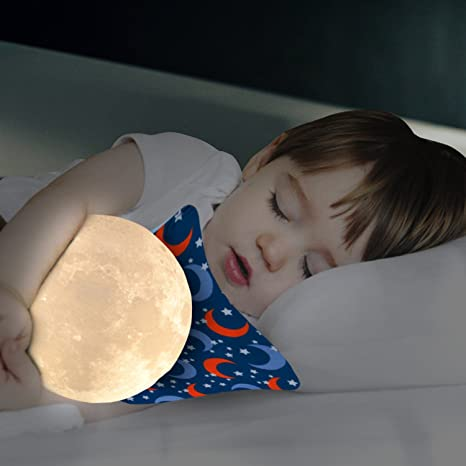 Amazon.com: Moon Lamp 3d Printing LED Night Light With Elegant Metal Stand, Decorative Lunar Light, Unique Baby Shower Gift or Gift for Kids, (12cm)4.7in ...