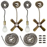 Iceyyyy Bronze Ceiling Fan Pull Chain Set Including