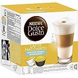 Nescafé Dolce Gusto Kaffeekapseln, Latte Macchiato ungesüßt, 3er Pack (48 Kapseln) 510g